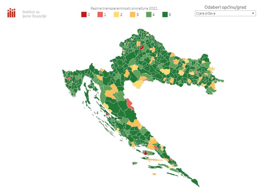 Peticu dobilo 267 općina, prosječna ocjena svih općina je 4,4